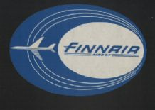 Airline label luggage labels Finland  finnair  #127